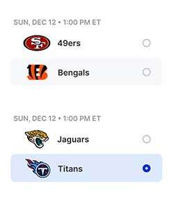 NFL Survivor Picksheet
